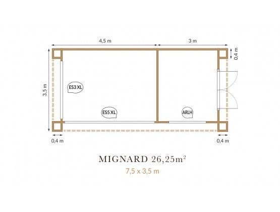 Mignard 26,25 m²