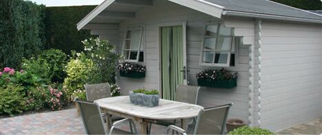 Een charmante tuin pergola